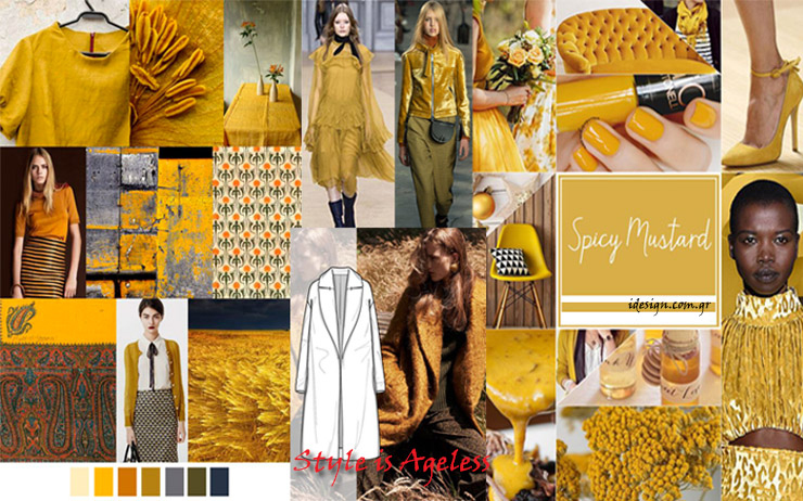 color trends Spicy mustard