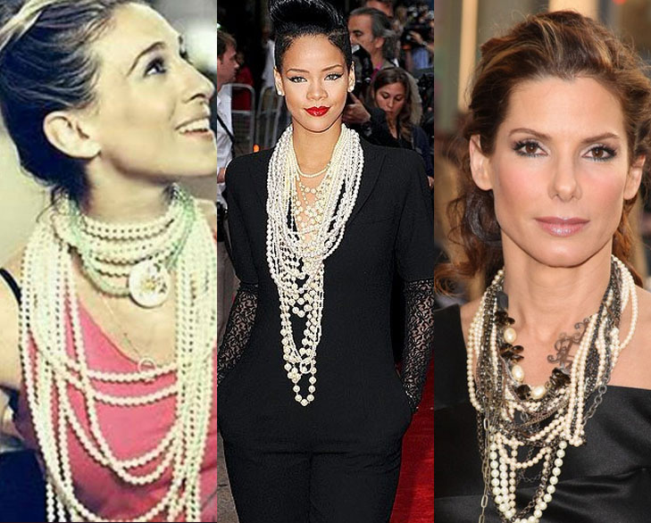 Celebrity style jewelry accessories trends fw 2016 2017 idesign celebrity pearls 1 aloadofball Image collections